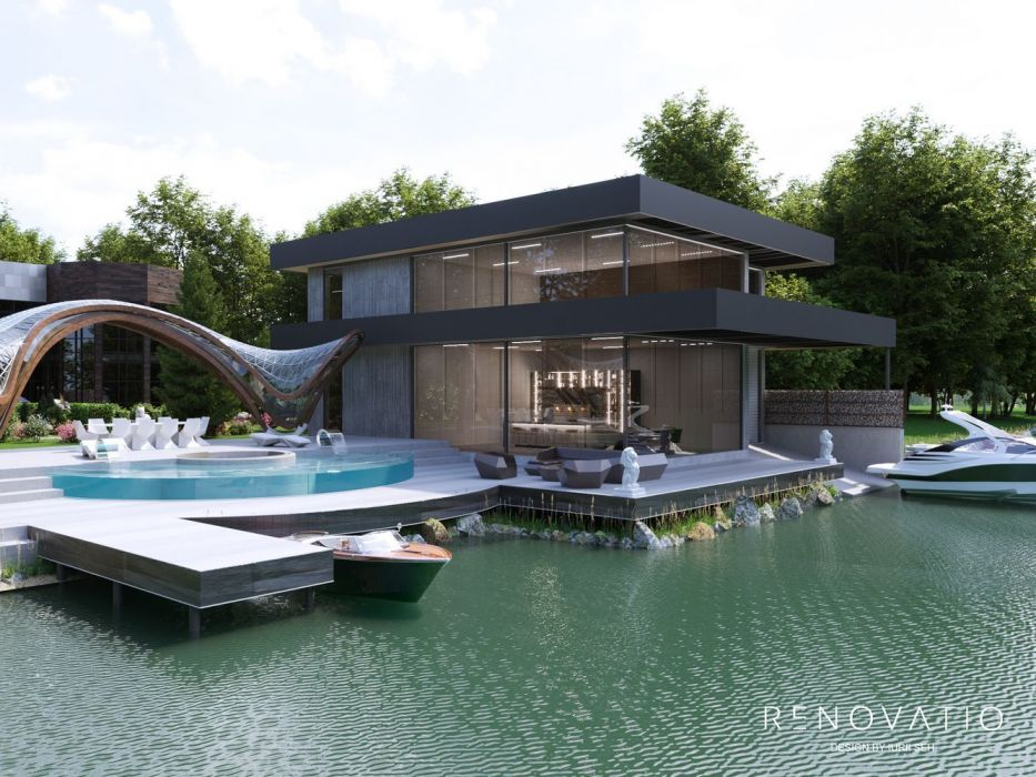 Design Projects - Houses And Cottages - House With Pier In Kozyn - A photo  10